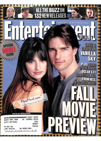 Cover Print of Entertainment Weekly, August 24 2001