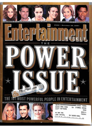 Cover Print of Entertainment Weekly, October 26 2001