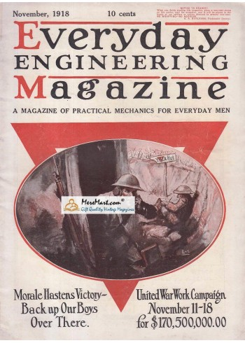 Everyday Engineering Magazine, November, 1918. Poster Print. L S.