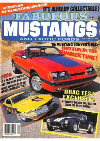 Fabulous Mustangs and Exotic Fords, September 1986
