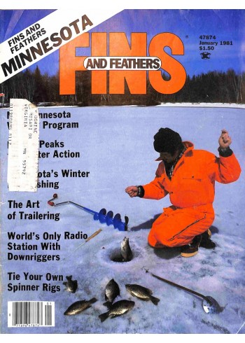 Cover Print of Fins and Feathers, January 1981