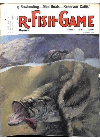 Cover Print of Fur-Fish-Game, April 1984