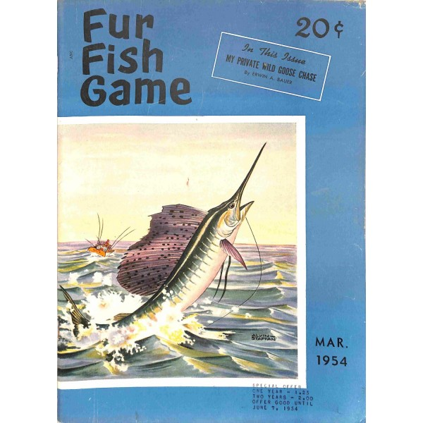 Fur fish game magazine march 1954 for Fur fish and game