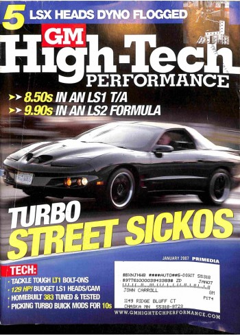 GM High Performance, January 2007