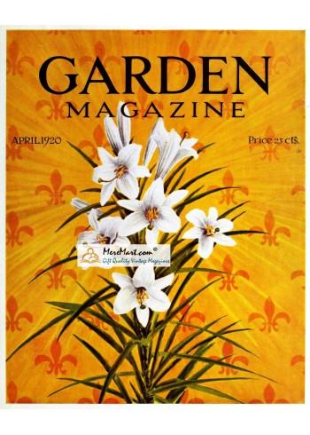 Garden Magazine, April, 1920. Poster Print.