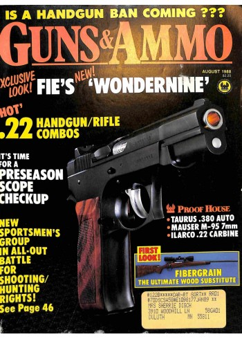 Guns and Ammo, August 1988