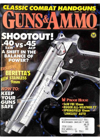 Cover Print of Guns and Ammo, January 1991