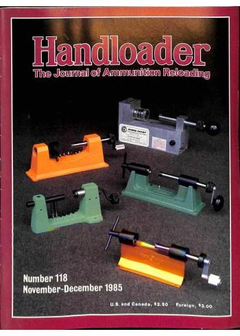 Handloader, November 1985