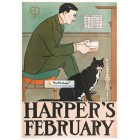 Harper, February, 1898. Poster Print. Edward Penfield.