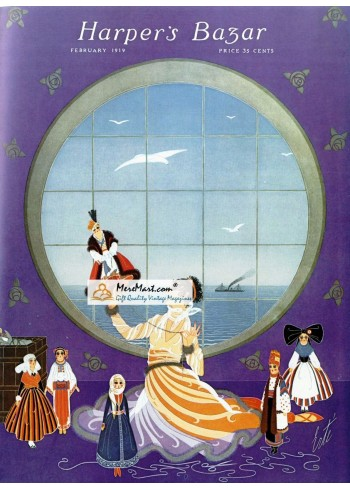 Harpers Bazar, February, 1919. Poster Print.