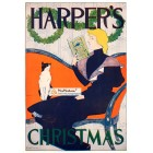 Harpers Christmas, December, 1894. Poster Print. Edward Penfield.