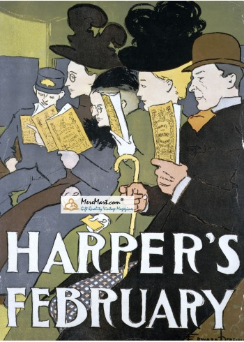 Harpers, February, 1897. Poster Print. Edward Penfield.
