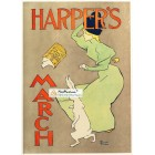 Harpers, March, 1895. Poster Print. Edward Penfield.