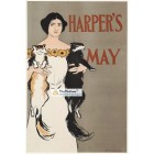 Harpers, May, 1897. Poster Print. Edward Penfield.
