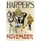 Harpers, November, 1893. Poster Print. Edward Penfield.