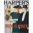 Harpers, November, 1895. Poster Print. Edward Penfield.