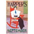 Harpers, September, 1898. Poster Print. Edward Penfield.
