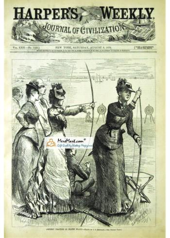 Harpers Weekly, August 3, 1878. Poster Print. G.S. Reinhart.