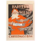Harpers Weekly, December, 1894. Poster Print. Edward Penfield.