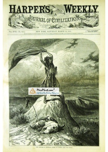 Harpers Weekly, March 22, 1873. Poster Print. W.M. Gary.