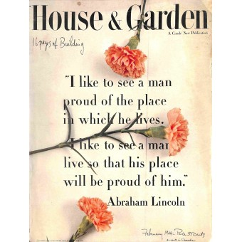 Cover Print of House and Garden, February 1944
