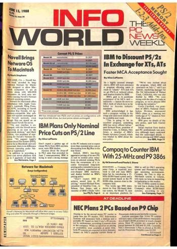 Cover Print of InfoWorld, June 13 1988