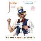 Judge, June 8, 1918. Poster Print. Jamee Flagg.