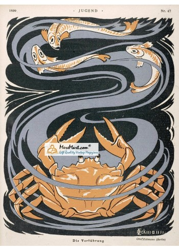 Jugend, 1899. Poster Print. Eckmann.