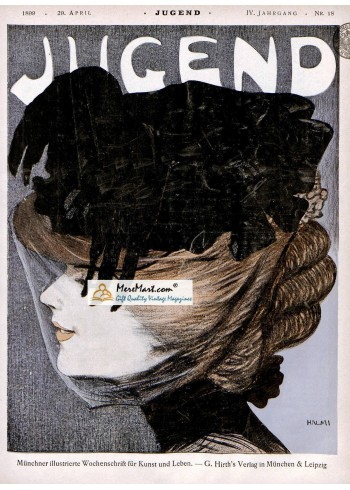 Jugend, April 29, 1899. Poster Print. Halmi.