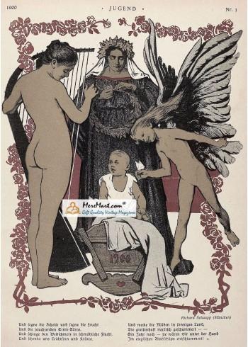 Jugend, December, 1900. Poster Print.