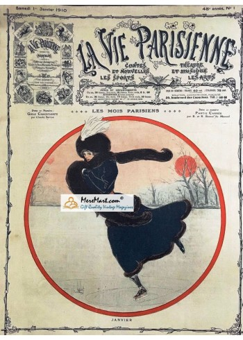 La Vie Parisienne, January 1, 1910. Poster Print.