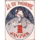 La Vie Parisienne, January 1, 1919. Poster Print. Leo Pontan.