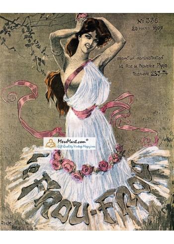 Le Frou Frou, March 23, 1907. Poster Print.