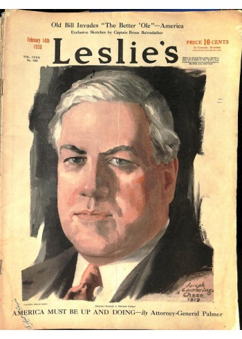 Cover Print of Leslies, February 14 1920