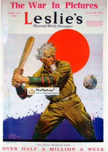 Leslies, April 27, 1918. Poster Print. Clyde Forsythe.