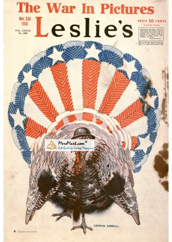 Leslies, November 23, 1918. Poster Print. Orson Lowell.