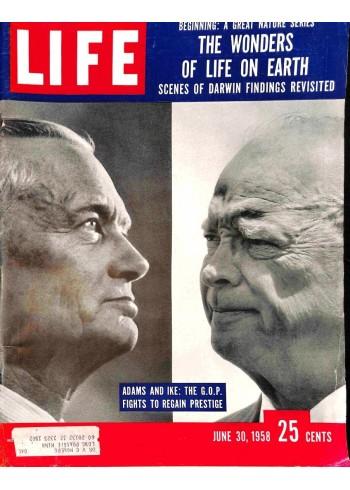 Cover Print of Life Magazine, June 30 1958