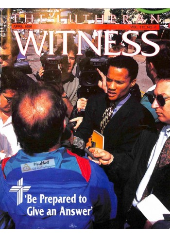 Cover Print of Lutheran Witness, April 1996