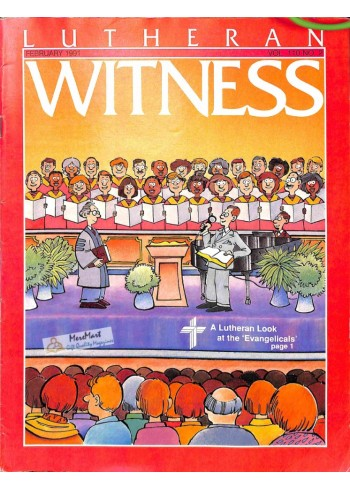 Cover Print of Lutheran Witness, February 1991