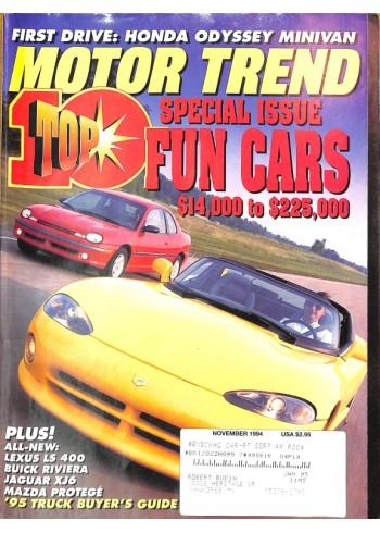Cover Print of Motor Trend, November 1994