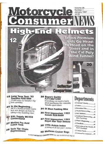 Motorcycle Consumer News, January 1997