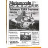 Cover Print of Motorcycle Consumer News, October 1997