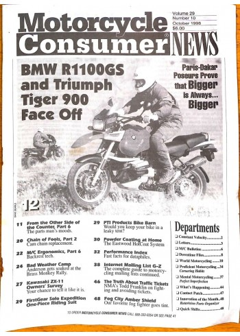 Motorcycle Consumer News, October 1998