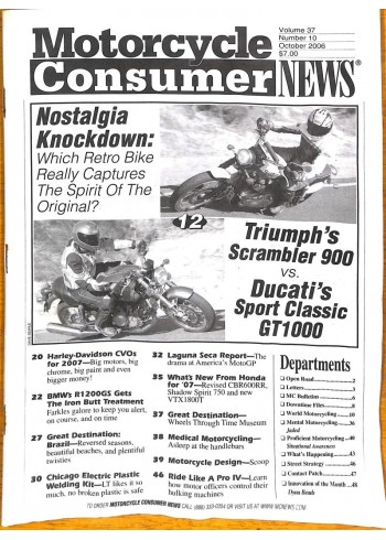 Motorcycle Consumer News, October 2006