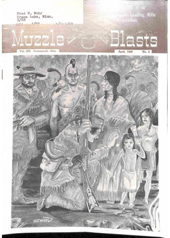 Cover Print of Muzzle Blasts, April 1958