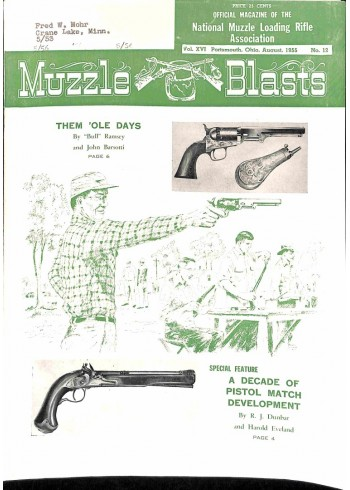 Cover Print of Muzzle Blasts, August 1955