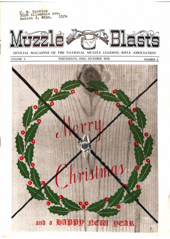 Cover Print of Muzzle Blasts, December 1948