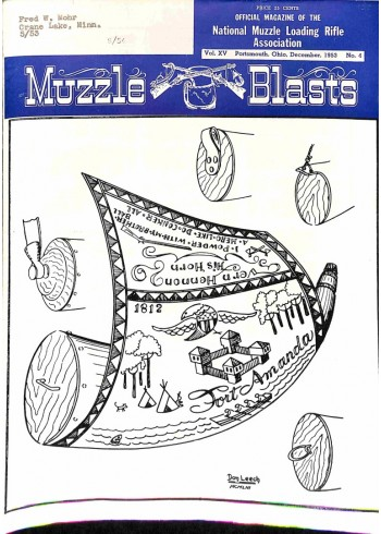 Cover Print of Muzzle Blasts, December 1953