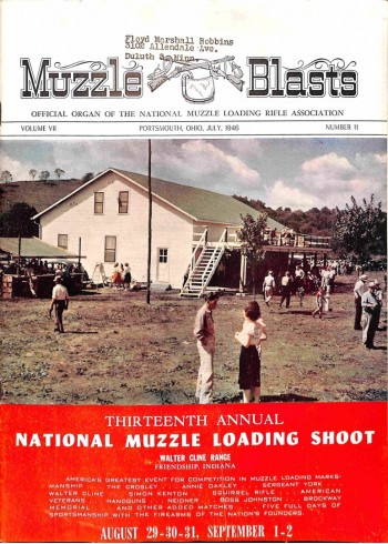 Cover Print of Muzzle Blasts, July 1946