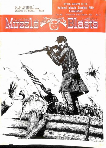 Cover Print of Muzzle Blasts, March 1951